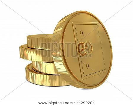 Safe deposit in golden coins