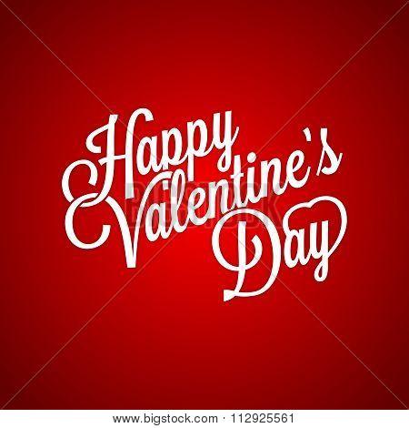 Vector Classic Happy Valentine's Day Typographic