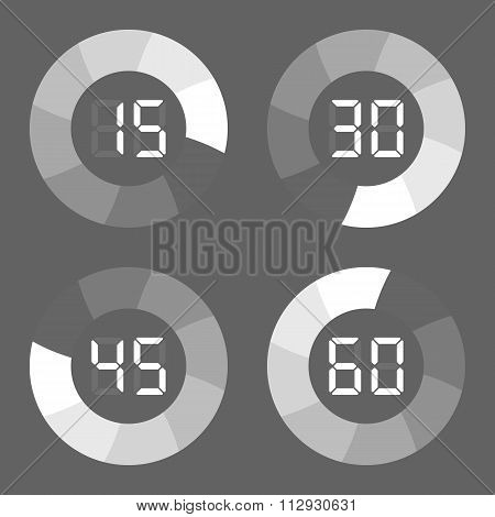 Set timer icon on gray background
