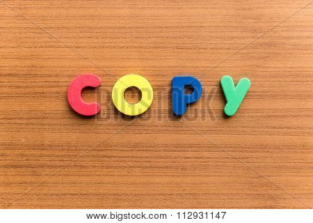 Copy Colorful Word