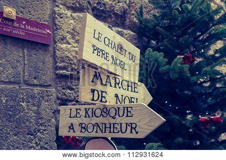 Narbonne - France - 08 December 2015: Marche de Noel