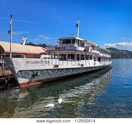 MS Waldstatter On The Lake Lucerne