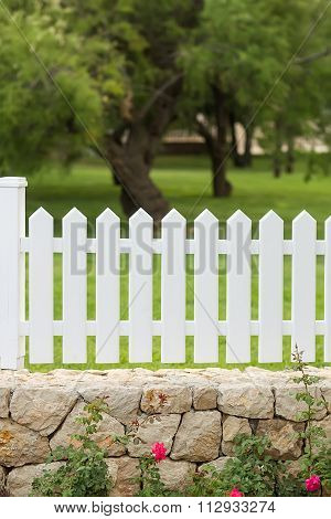 White Wooden Palisade