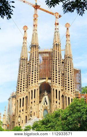 Sagrada Familia Cathedral, Barcelona Spain
