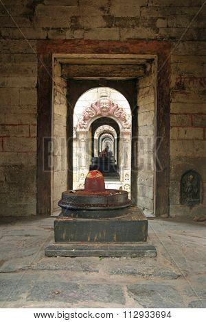 Linga statue at Pashupatinath in Kathmandu Nepal
