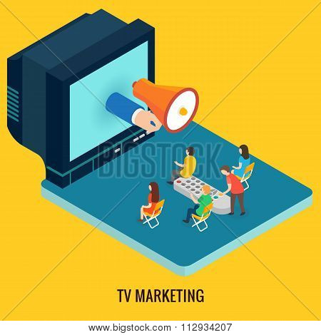 TV marketing concept.
