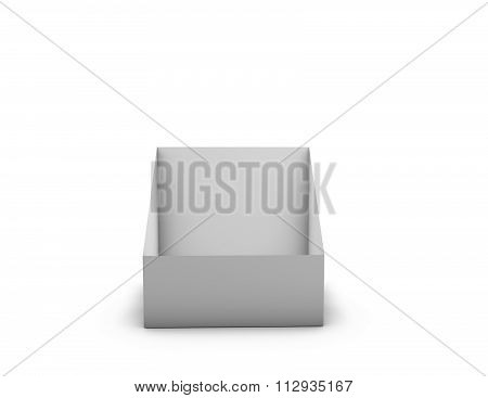 Empty Leaflet Holder Isolated On White.