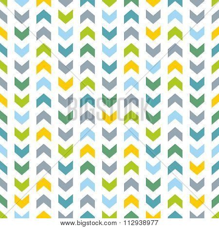 Tile vector pattern with blue and mint green zig zag