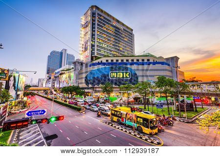 BANGKOK, THAILAND - OCTOBER 2, 2015: MBK Shopping Center. It was the largest mall in Asia when opened in 1985 and still receives more than 100,000 visitors daily.