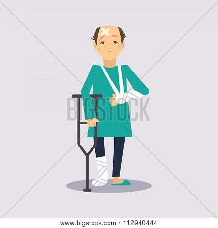 Trauma Insurance Vector Illustartion