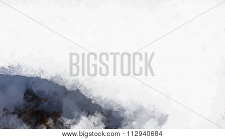 Arctic coastline panoramic design art