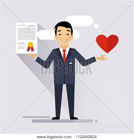 Health Insurance Contract Vector Illustartion