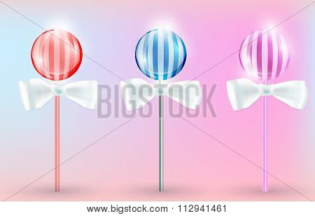 vector image Lollypops