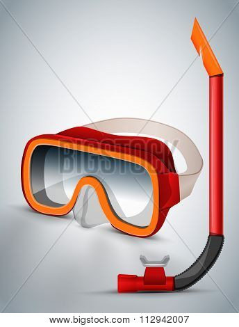 Diving goggles diving mask red