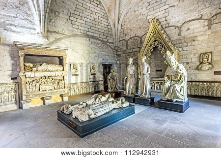 Inside The North Sacristy Of The Popes Palace In Avignon, France