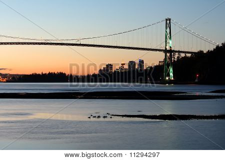 Lions Gate Bridge, Vancouver Morning Skyline