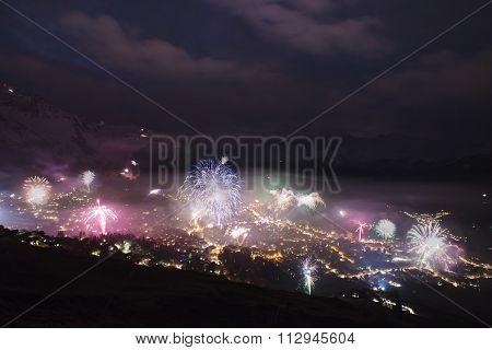 Verbier New Years Eve Fireworks
