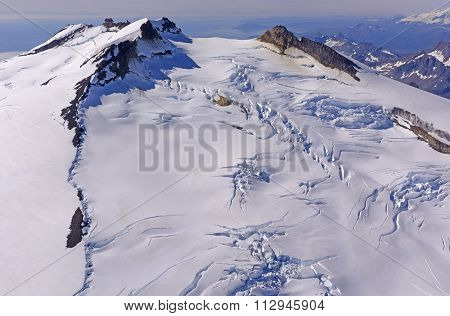 Ice And Snow On A Remote Volcano