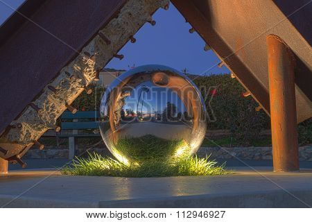 Reflecting ball sculpture