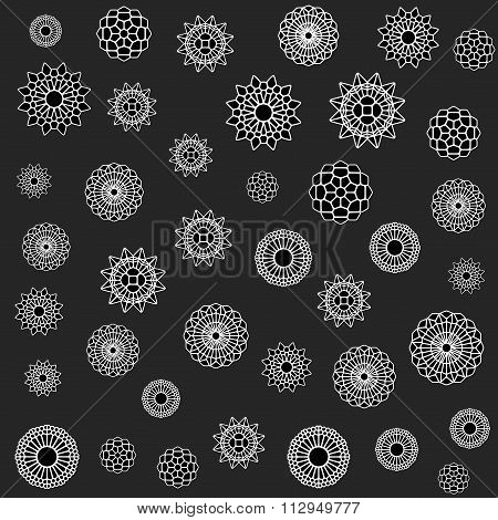 Vector Seamless Jumble Flower Ornament Pattern