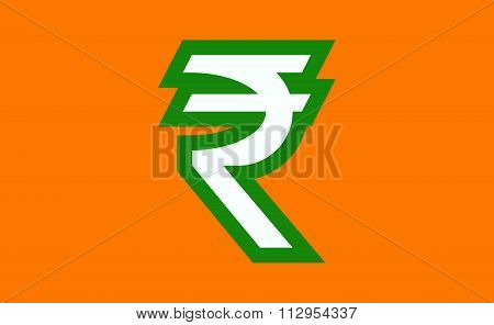 Indian Rupee Sign.
