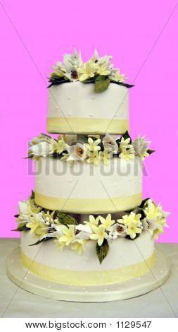 Decoración de la torta. Cake.Gift de la boda. Pastel para celebrar la ocasión feliz