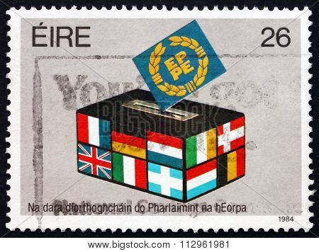 Postage Stamp Ireland 1984 Flags