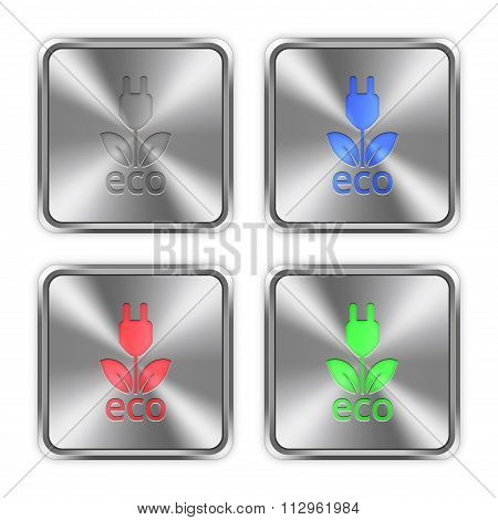 Color Eco Energy Steel Buttons