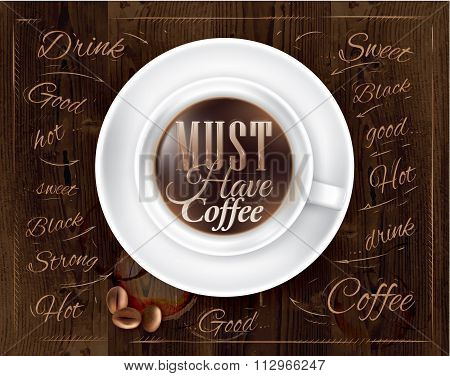 Poster Coffee Cup Brown