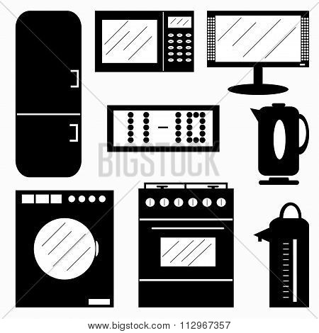 Appliances Symbols Vector Illustration