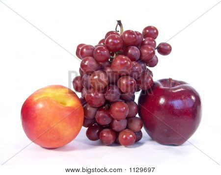 Apple, Apricot And Grapes