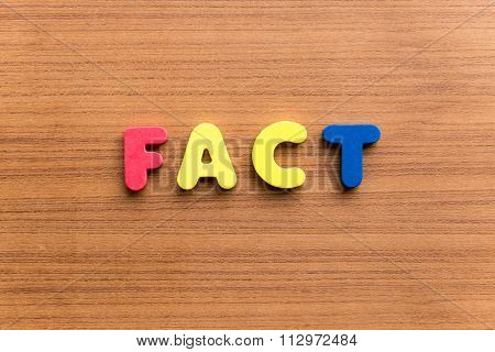 Fact Colorful Word