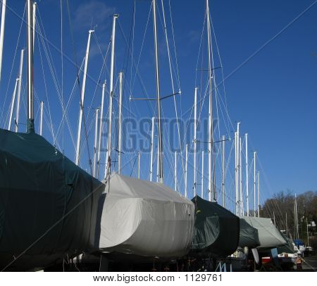 Boats Covered For Winter 3