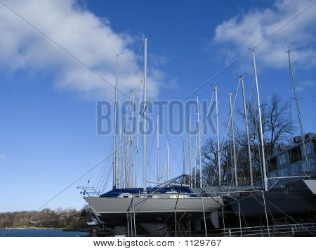 Boats Stored For Winter 1