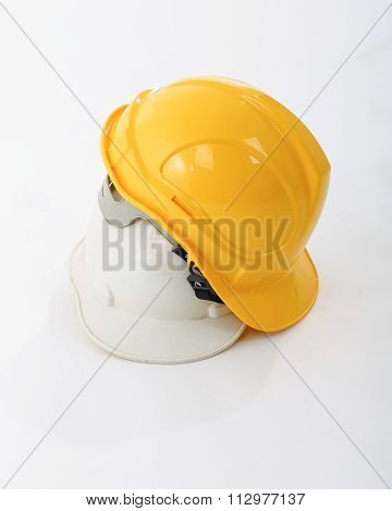 Yellow And White Safety Helmets