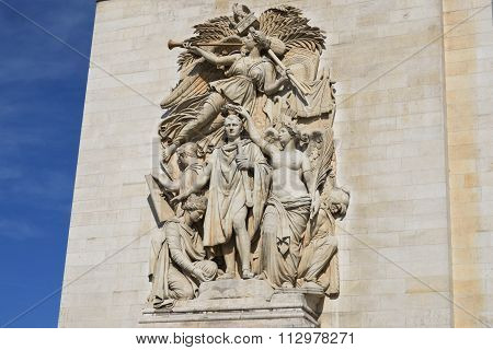 Carving on side of arc de triomphe