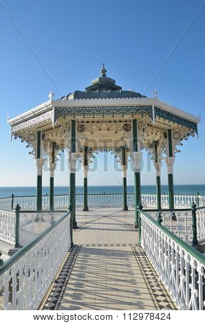 Seaside bandstand from front