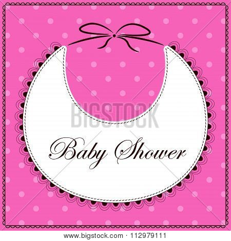 Baby shower with bib pink