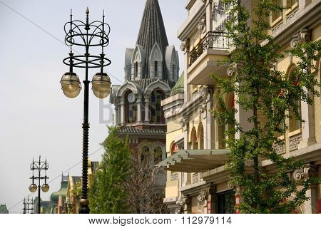 Russian street in Dalian People's Republic of China