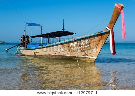 Traditional Thai Long Tail Boat