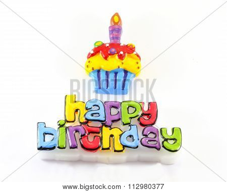 Happy Birth Day Cake Candle