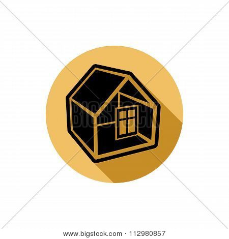 Home Vector Symbol, Estate Theme, Can Be Used In Advertising And Web Design. Property