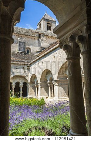 Cloister Of Senanque Abbey, Vaucluse, Gordes, Provence, France
