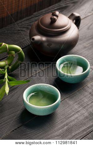 Green Tea And Tea Bowls
