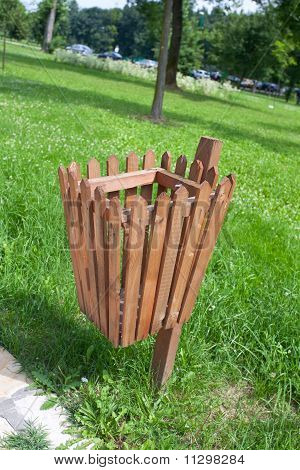Wooden Garbage Can