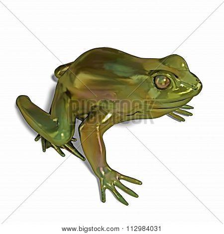 metal frog isolated