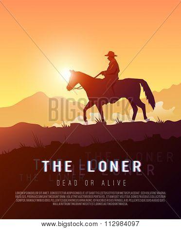 Wild West. Vector poster.