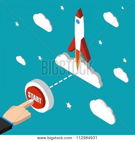 Start Mission Isometric