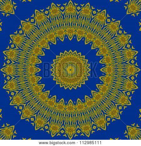 Seamless floral onrament yellow blue