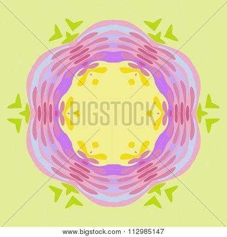 Seamless floral pattern yellow purple green